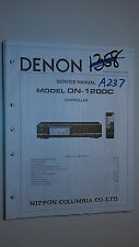 Denon dn-1200c service manual original repair book stereo controller