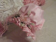 "Antique Bisque French Bonnet Repro Beautiful Taffeta 15""/16"" Head Circumference"