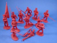 NAPOLEONIC BRITISH MEXICAN INFANTRY 1812 BRITISH 12 Toy Soldiers CTS FREE SHIP