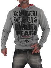 Yakuza Premium Pullover Sweatshirt YPP 2523 grau blau M L XL XXL XXXL XXXXL