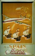 Iberia Airlines fly to Spain chapa escudo Escudo de chapa de metal Tin sign 20 x 30 cm