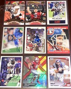 former Denver Broncos NFL auto autograph football card LOT  Terrell Davis +more!