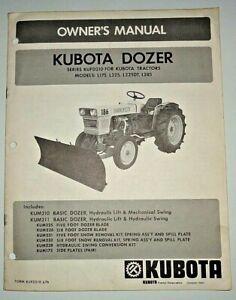 Kubota KUFD210 Series Dozer Blade Operators Owners Manual fits L175-L285 Tractor