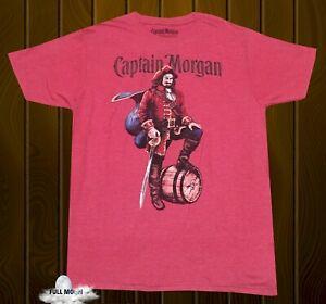 New Captain Morgan Rum Mens Heather Red Classic T-Shirt