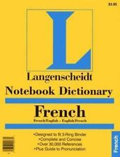Notebook French Dictionary (French Edition) (French) BRAND NEW - FREE SHIPPING