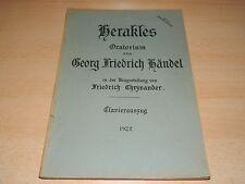 Klavier - Herakles - Oratorium - Georg Friedrich Händel - neu von F. Chrysander