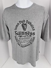 XL T Shirt Gaelic Guinness Beer Stout Ale Gray Tee