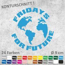FRIDAYS FOR FUTURE Erdkugel Autoaufkleber Sticker Aufkleber Ø 9 cm