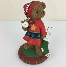 Homco Kuddles Corner December Bear Christmas Figurine