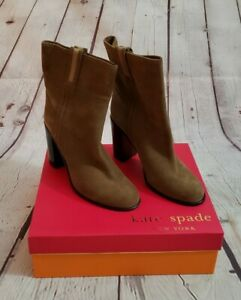 Kate Spade Baise Tabacco Sport Suede Boots Womans Size 10M New