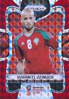 2018 Panini Prizm World Cup Russia '18 Morocco Red Mosaic Parallel (#249 - #257)
