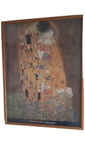 Gustav Klimt Framed Print - The Kiss 1907