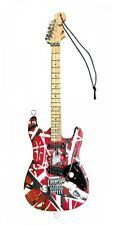 Eddie Van Halen Frankenstein Red Black 6in; Holiday Guitar Ornament 000282020