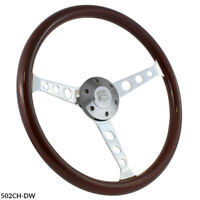 "15"" Chevrolet Wood Slotted Steering Wheel Set w/ Adapter"