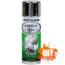 Rust-Oleum Mirror Effect Finish Spray Paint Glass Vases Lamps Wedding Arts Craft
