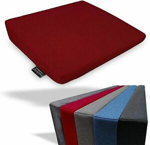 Memory Foam Wedge Cushion Back Support Car Seat Office Chair Height Booster UK