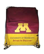 University of Minnesota Driven to Discover Draw String Tote Bag Backpack