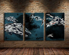 Home Decor Wall art,picture HD printed on canvas,(Unframed)<star wars ships> 3pc