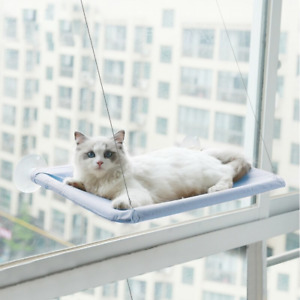 Summer Pet Kitty Hammock Seat Sucker High Window Perch Bed Hanging Shelf Cat Bed