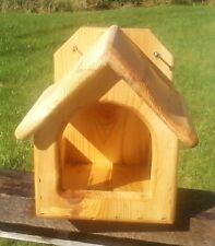 Square decorative, Dove or Robin cedar wood nesting shelf, The Birds Nest #1