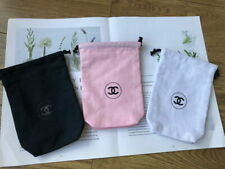 CHANEL CANVAS MAKEUP GIFT STORAGE PHONE BAG POUCH 1 SET OF 3PCS 2019