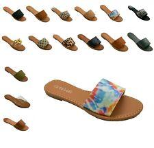 New Women Flat Size Slide Sandals