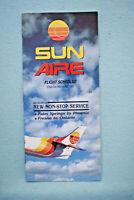 Sun Aire Flight Schedule - March 15, 1985 - Timetable