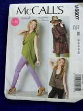 UNCUT MCCALLS#M6607 WOMENS SZ 8-10-12-14-15 UNUSUAL TOPS  SEWING PATTERN
