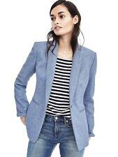 Banana Republic One Button Flannel Blazer Color Light Blue #482473 Regular 12