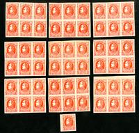 Venezuela 10¢ Stamp Lot of 55 Orange Proofs in Large Blocks