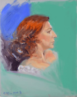 Portrait of Woman with Red Hair