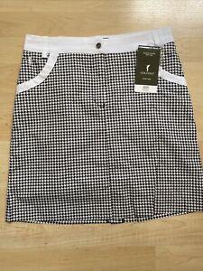 NWT Golfino Ladies Printed Stretch Skort 8261828 890 Black 4 6 8 10 12 14 16 18