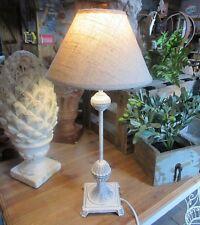 Shabby Maison de Campagne Lampe Table Style Métal 46cm Haut Neuf