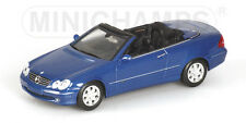 Mercedes Clk Cabrio 2003 Blue 1:43 Model 400031431 MINICHAMPS