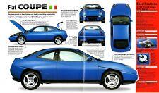 1996/1997 FIAT COUPE 20v/20 V TURBO SPEC SHEET/Brochure