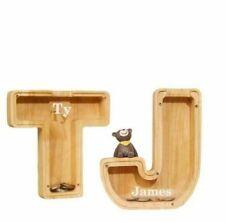 More details for wooden letter piggy bank creative twenty-six english alphabet wooden crafts gift