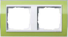 Gira Rahmen Abdeckrahmen Event 2-fach 0212743 grün klar / reinweiß Blende NEU