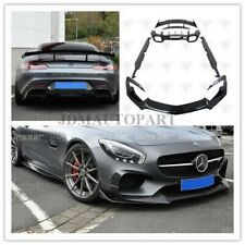Carbon Fiber Spoiler Front Lip Diffuser Bumpers For Mercedes Benz AMG GT GTS