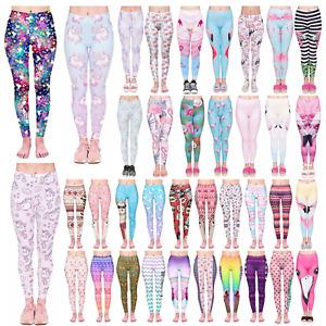 Kukubird Yoga Gym Fashion Leggings Size 6-12 Stretchable Flamingo Unicorn Llama