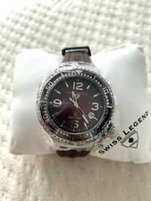 Swiss Legend 11844-BRWSA Neptune Brown Mother-Of-Pearl Dial Watch/ New with Tag