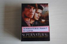 SUPERNATURAL SEASON 3 INKWORKS 2008 81 CARD COLLECTORS CARDS BASE SET