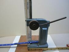 Arbor Press Bench Top Precision Machine Work Heavy Duty Blue Very Good Condition