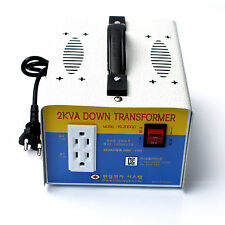Home Converter Step Down Voltage Transformer From 220V To 110V 2KV 2000W Korea