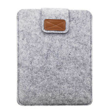 "Gray Woolen Flet Sleeve Pouch Hand Bag Cover For Amazon Kindle Fire 7"" 2017/2015"