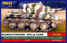 BUM Models 1/72 RUSSIAN FINNISH SPG-42 TANK with RUINED BUILDING Figure Set