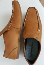 Base London Mens Tan BROWN LEATHER Loafers Size 9.5 EU 44 SLIP ON SHOES  RRP £69
