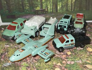 Lot Of 7 Matchbox Park Ranger Forest Ranger Fire Truck Fire Plane New Loose 1:64