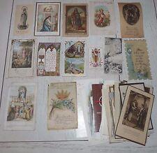 LOT 77 CHROMOS IMAGES PIEUSES CATHOLICISME HOLY CARDS COMMUNION 1910-1980