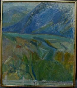 Gertrud De-Val Linér 1899-1993, Berglandschaft, um 1960/70