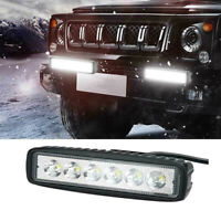 18W 6inch LED Work Light Bar Flood Lamp Offroad Driving Fog 4WD UTE SUV Truck md